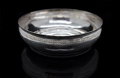 Antique Original Perfect Silver Amazing Tugra Ottoman Decorated Bath Bowl