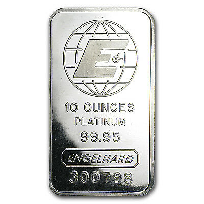 10 oz Platinum Bar - Engelhard (No Assay) - SKU #78717