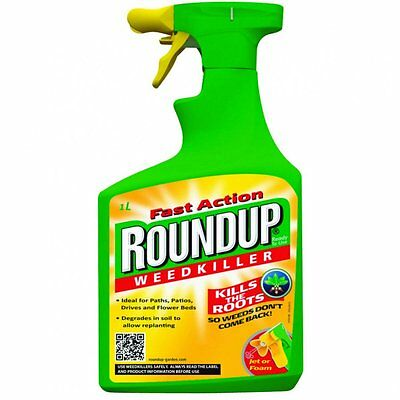 Fast Action Roundup Ready To Use Weedkiller - Kills Weeds & Roots (1L)