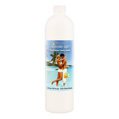 Pint Belloccio Simple Tan 12% DHA Dark Sunless Airbrush Spray Tanning Solution