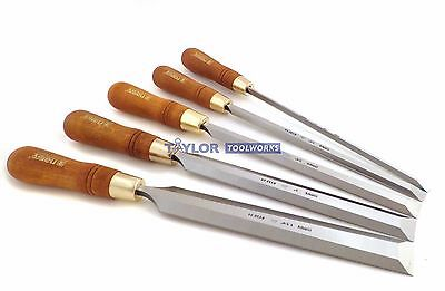 "Narex Premium 5 piece Set Paring Chisels Including 1/4"" 1/2"", 3/4"", 1"" & 1 1/4"""