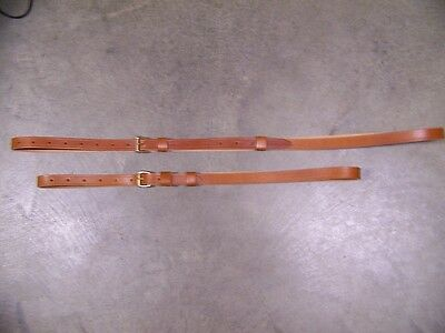 LEATHER LUGGAGE STRAPS for LUGGAGE RACK/CARRIER~~(2) PIECE SET~~HONEY COLOR