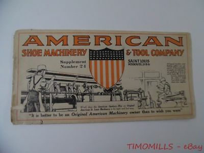 c.1924 American Shoe Machinery & Tool Co Catalog Skiver Sole Cutters St Louis MO
