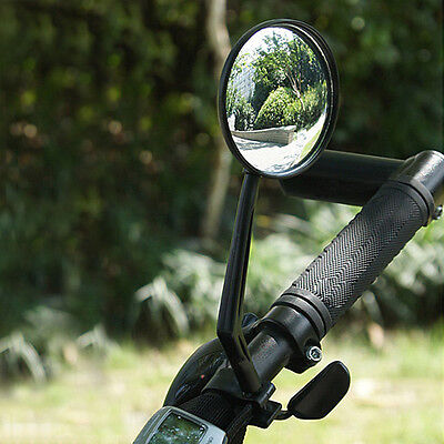2pcs Cycling Bicycle Cycle Handlebar Flexible Rear View Rearview Safety Mirror