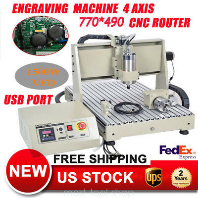 4Axis 6040 CNC ROUTER ENGRAVER ENGRAVING DRILLING/MILLING DESKTOP MACHINE 1500W