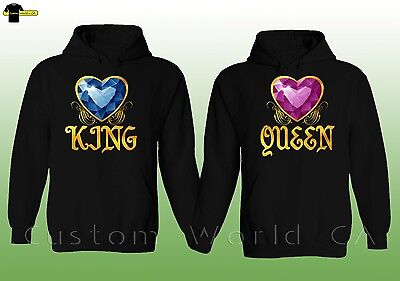 Couple Hoodie - King & Queen - His And Hers New Design Couple Sweatshirts Hooded