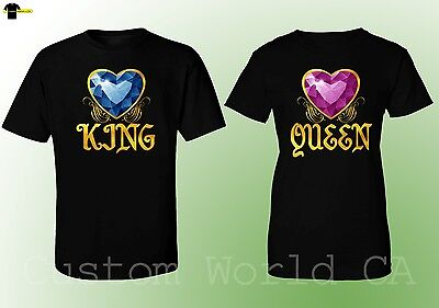 Couple Matching T-Shirts - King & Queen - His and Hers New Design Tees