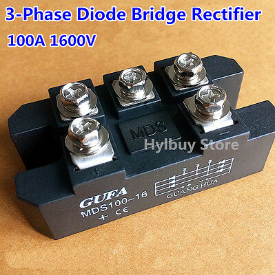 MDS100A Copper Three 3-Phase Diode Bridge Rectifier 100A Amp 1600V