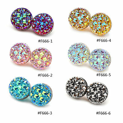 1 Pair Crystal Round Magnetic Brooch Clasp Hijab Scarf Abaya Muslim Pin Accesso
