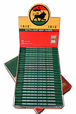 King Size Slim Extra Light Hemp Rolling Papers 24 Booklets Full Box