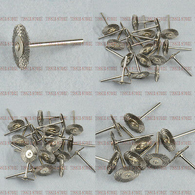 1Inch/25mm Steel Wire brushes Wheel For Dremel Rotary Tools select the set