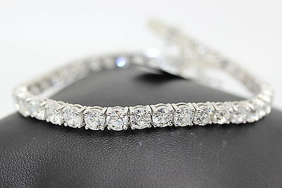 Special offer! 4ct  Claw Set Round Diamond Tennis Bracelet Made in 18k W.G