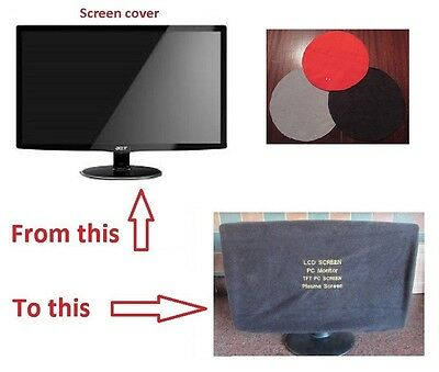 Flat Screen TV - Monitor Dust Cover LED/LCD 42.5 TO 50  INCH 3 COLOURS TO CHOOSE