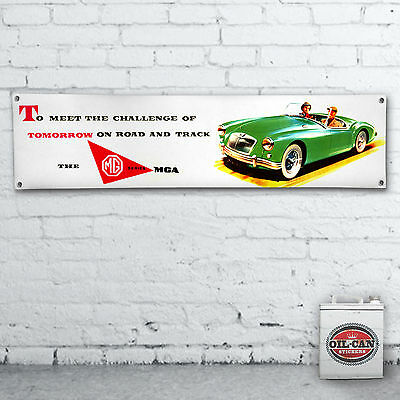 MGA advert Banner  –  heavy duty for workshop, garage, man cave retro mg classic