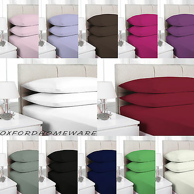 2 X Pillow Case Luxury Cases Polycotton Housewife Pair Pack Bedroom Pillow Cover