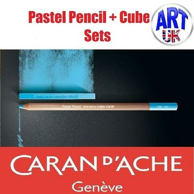 Caran d'Ache Artists Soft PASTEL PENCIL & CUBE SETS drawing sketching gift box