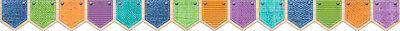 """CTP Upcycle Style PATTERNED POCKETS Bulletin Board Border Deco Trim 2.75"""" x 35'"""