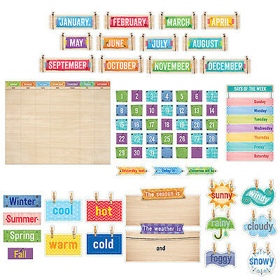 CTP Upcycle Style MONTHLY CALENDAR 67 Pc Bulletin Board Set