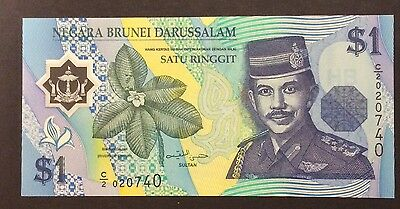 1996 $1 Brunei Polymer Banknote - Pick 22a - Unc C/2020740