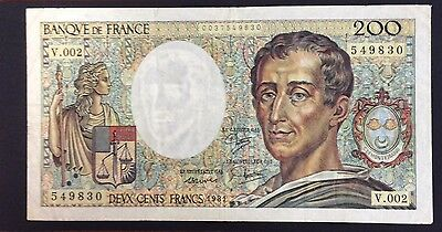 1981 200 Francs France Banknote - 549830 circulated condition