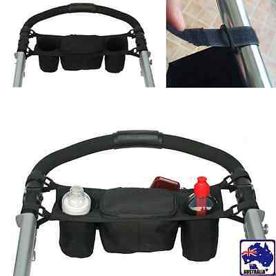 Kids Baby Stroller Safe Console Tray Hanging Bag Cup Holder Organizer BMOBA 1175