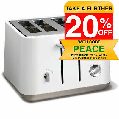 Morphy Richards White 240003 Aspect 4 Slice Toaster Stainless Steel 1800W