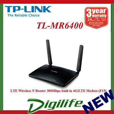 TP-Link TL-MR6400 300Mbps Wireless N 4G LTE SIM Card NBN Ready Router