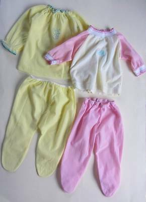 vintage childrens PJ's Large doll 1950's 60's pink or yellow age 1