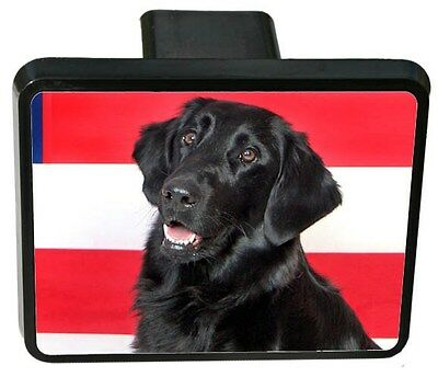 Flat Coated Retriever Trailer Hitch Cover