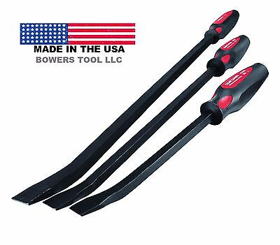 Craftsman Professional Tool 3pc Curved Pry Bar Crowbar Set 12, 17, 25 In USA