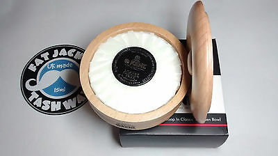 Kent Beechwood Wet Shaving Bowl & Soap SB1 120g Luxury - Lanolin - Same Day Post