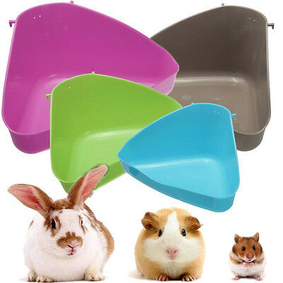Rat Mice Mouse Rabbit Hamster Corner Litter Tray Toilet for Small Animal cage