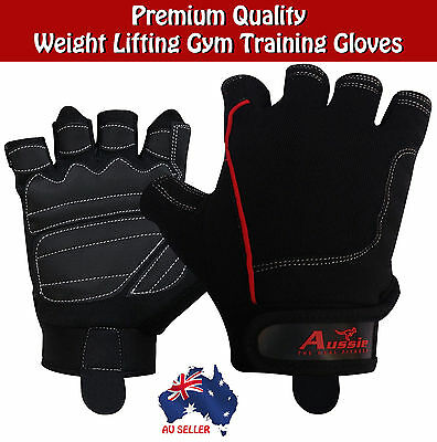 Gym Gloves Fitness Weight Lifting Training Bodybuilding Gloves Crossfit Leather