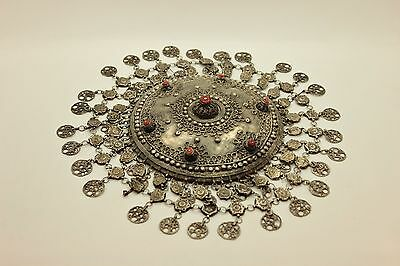 Antique Original Perfect Silver Copper Mix Coral Decorated Amazing Bridal Head