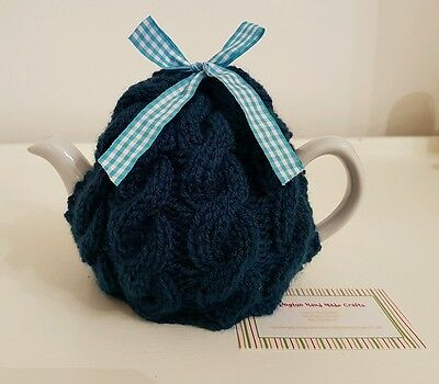 Hand Knitted 1 - 2 Cup Tea Cosy - Teal
