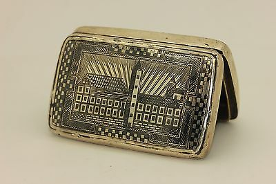 Antique Original Perfect Silver Niello Ottoman Armenian Cigarette Case