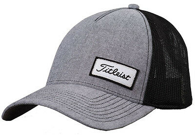 New 2016 Titleist Black Gray West Coast Collection Fitted Hat Small/medium