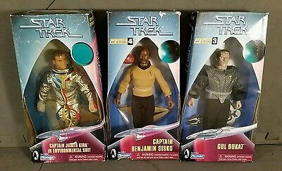 Star trek action figures by playmates Kirk, Sisko & Gul Dukat. 1999