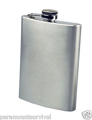 Stainless Steel Flask 6 oz Hip Flask Screw Cap Liquor Alcohol Whiskey Pocket
