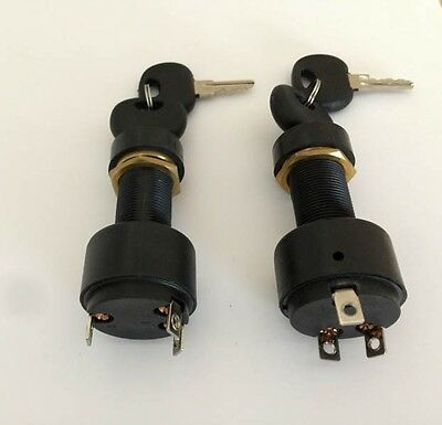 2 Marine / Boat Ignition Switches, Three (3) position. Comes with 4 keys.