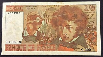 1977 10 Francs France Banknote - 141658 circulated condition