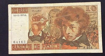 1975 10 Francs France Banknote - 64165 circulated condition