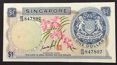 1967 $1 Singapore Banknote -circulated condition - B/19 847807