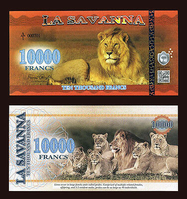 La Savanna 10000 Francs 2016 - Lion