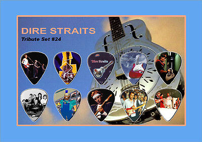 Dire Straits guitar picks on photo display LIMITED