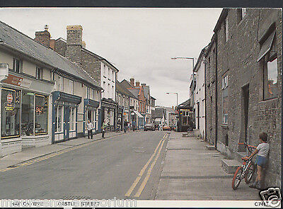 Herefordshire Postcard - Castle Street, Hay-On-Wye  RR183
