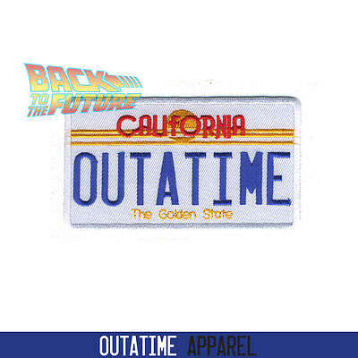 Back To The Future Delorean California Outatime Number Plate 136113966 Patch
