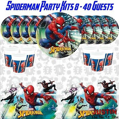 SPIDERMAN Team Up Plates Cups Napkins Tablecover Tableware PARTY KITS 8 - 40