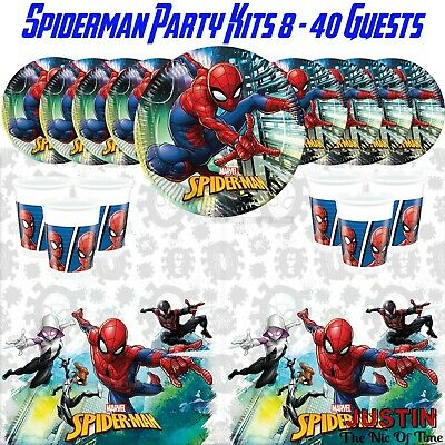 ULTIMATE SPIDERMAN Plates Cups Napkins Tablecover Tableware PARTY KITS 8 - 40