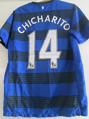 300d7d5fa Manchester United 2011-2012 Chicharito Away Football Shirt large boys kids  39728